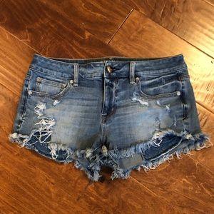 American Eagle Shortie Festival Jean Shorts sz 10